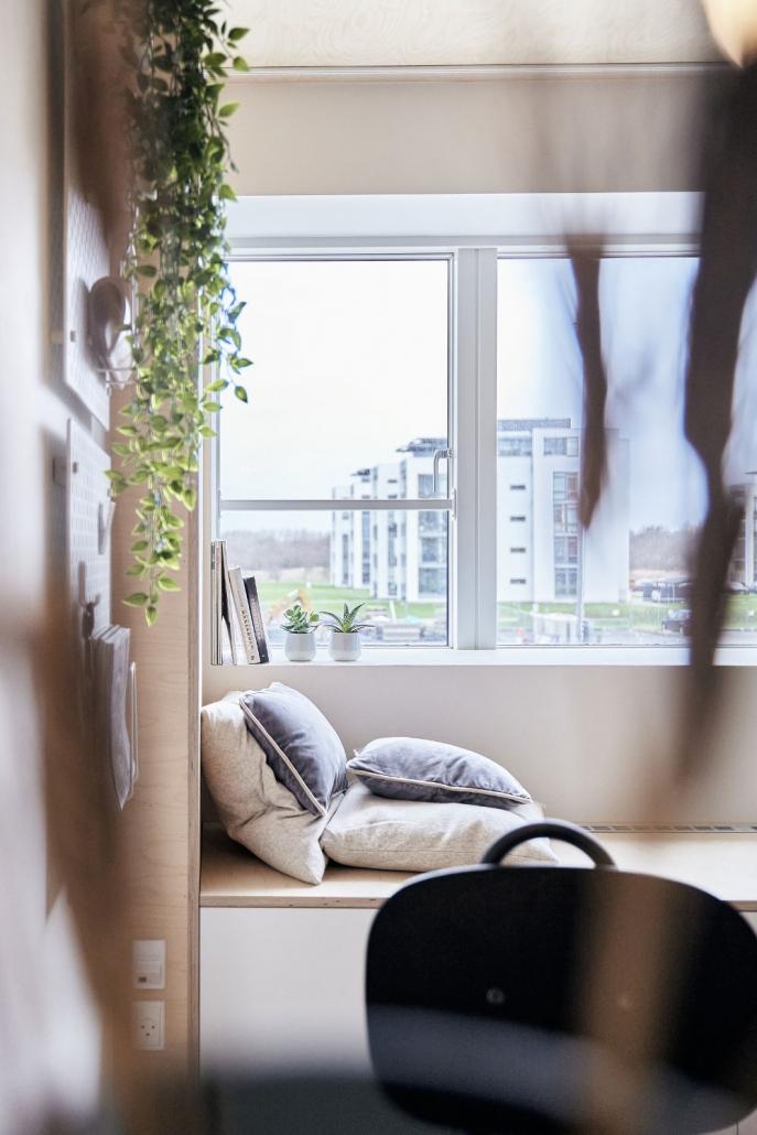 Værelse + udsigt - PFA Kollegiet Aalborg